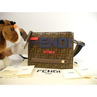 フェンディ(FENDI)のフェンディ メッセンジャーバッグ ズッカ/フィラコラボ 茶 ボディバッグ 未使用(ボディーバッグ)