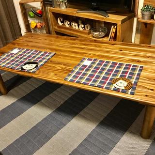 【選べる天板木材】横幅150cmセンターローテーブル(ローテーブル)