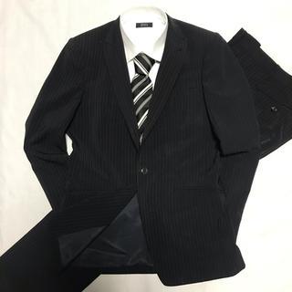 コムサメン(COMME CA MEN)のCOMME CA MEN コムサメン ネイビー/黒 ストライプ スーツ(セットアップ)