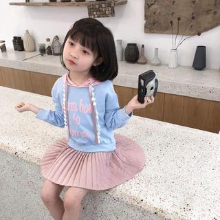 KWCA004春秋子供服キッズ 重ね着風  ロング ワンピース(ワンピース)