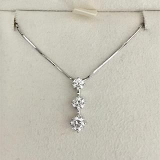 トリロジー ダイヤモンド ネックレス Pt900 0.60ct 5.0g