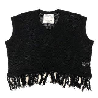 "Jieda - DAIRIKU ""Pullover Fringe Net Knit Vest"""