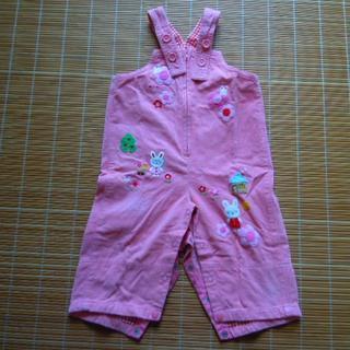 mikihouse 女の子用 オーバーオール/長袖シャツセット サイズ80(その他)
