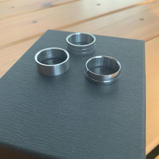 ゲス(GUESS)のguess シルバーカラーリング3点セット(リング(指輪))