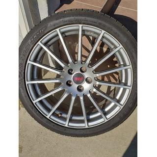 スバル(スバル)のstiホイール タイヤ付き4本セット(タイヤ・ホイールセット)