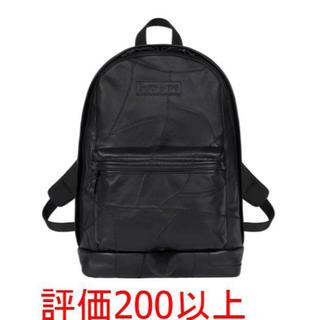 シュプリーム(Supreme)のSUPREME Patchwork Leather Backpack レザー 黒(バッグパック/リュック)