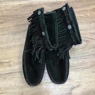 ミネトンカ(Minnetonka)のミネトンカ ショートブーツ 黒(ブーツ)