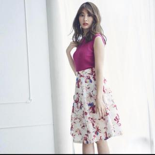 リランドチュール(Rirandture)のリラ♡ グラデペイントフラワーSK(ひざ丈スカート)