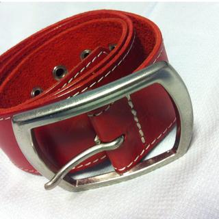 ユナイテッドアローズ(UNITED ARROWS)のUNITED ARROWS 赤の革ベルト(ベルト)