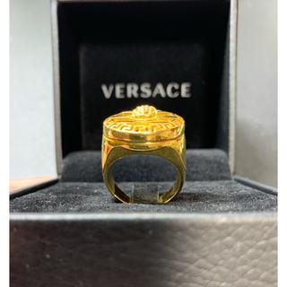 ヴェルサーチ(VERSACE)のVERSACE ゴールドラウンドメデューサリング(リング(指輪))