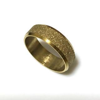 同時購入で300円 ステンレス指輪ラメ ゴールド(リング(指輪))