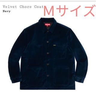 Supreme Velvet Chore Coat 20ss(ネイビー)
