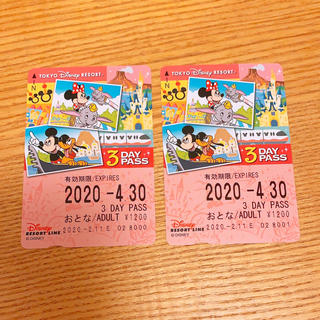 ディズニー(Disney)のディズニーリゾートラインチケット 未使用(その他)