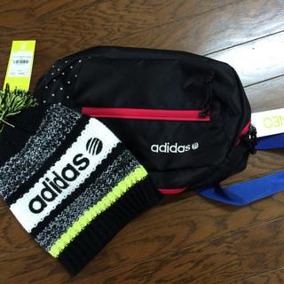 アディダス(adidas)のアディダス ニット帽 ポーチセット(ニット帽/ビーニー)