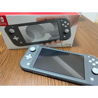 ニンテンドウ(任天堂)のNintendo Switch Liteグレー(家庭用ゲーム機本体)