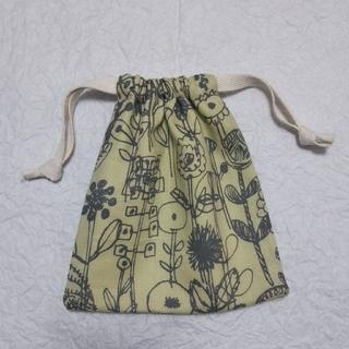 ミナペルホネン(mina perhonen)の巾着袋☆letter of flower CH☆ハンドメイド(ポーチ)