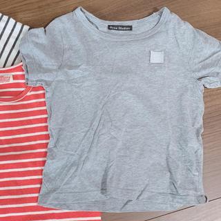 アクネ(ACNE)のアクネストゥディオ キッズ グレー tシャツ(Tシャツ/カットソー)