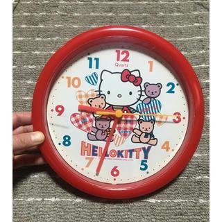 ハローキティ(ハローキティ)のHELLO KITTY ③ ハローキティ 掛時計 赤 Quartz(掛時計/柱時計)