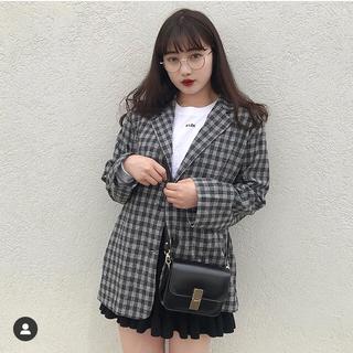 スタイルナンダ(STYLENANDA)のJUDY.SHOP チェックジャケット オルチャンファッション 韓国ファッション(テーラードジャケット)