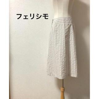 フェリシモ(FELISSIMO)のフェリシモ ストライプスカート(ひざ丈スカート)