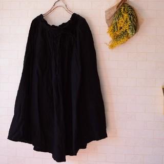 ネストローブ(nest Robe)のブリスバンチ リネンスカート 漆黒(ロングスカート)