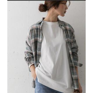 ドアーズ(DOORS / URBAN RESEARCH)のコットンチュニックTシャツ オフホワイト(Tシャツ(長袖/七分))