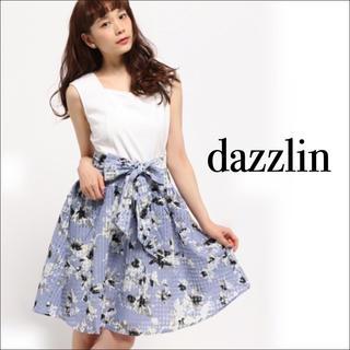 ダズリン(dazzlin)のdazzlin 格子フラワー コンビ ワンピース♡マーキュリーデュオ Noela(ミニワンピース)