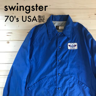 ウールリッチ(WOOLRICH)のswingster コーチジャケット 70's ヴィンテージ古着 USA製(ブルゾン)