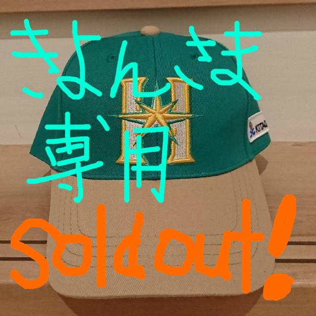 北海道日本ハムファイターズ(ホッカイドウニホンハムファイターズ)のファイターズキャップ スポーツ/アウトドアの野球(応援グッズ)の商品写真