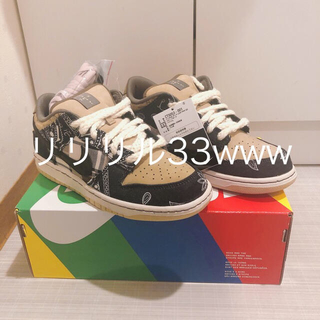 ナイキ(NIKE)のTRAVIS SCOTT × NIKE SB DUNK LOW 25.5cm(スニーカー)