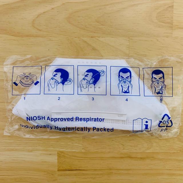 マスク どちらが表 | 未開封✨1枚 N95 マスク SH2950 立体構造 白 ホワイト 使い捨ての通販 by   All genre shop