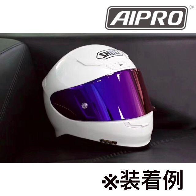 CWR-F ピンロックミラーシールド ダークスモーク/ブルー 自動車/バイクのバイク(ヘルメット/シールド)の商品写真