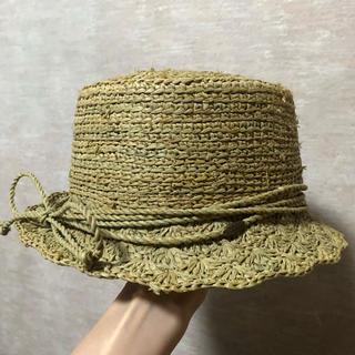 カシラ(CA4LA)のCallanan バックリボンの麦わら帽子(麦わら帽子/ストローハット)