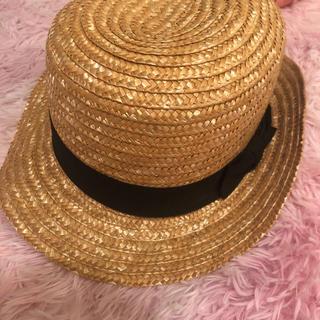 エイチアンドエム(H&M)の麦わら帽子(麦わら帽子/ストローハット)
