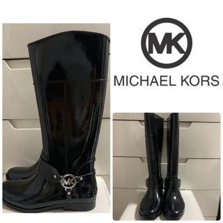 マイケルコース(Michael Kors)のマイケルコース   ブラックエナメル   アイコン レインブーツ(レインブーツ/長靴)