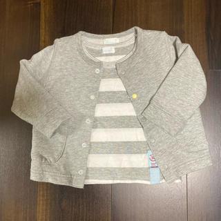 コンビミニ(Combi mini)のコンビミニ  カーディガン&Tシャツセット 80cm(カーディガン/ボレロ)