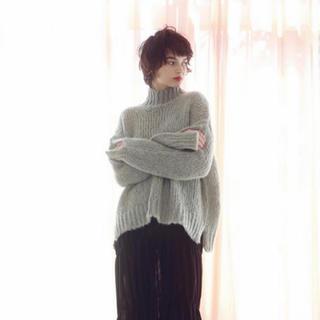 ロザリームーン(Rosary moon)のFluffy Back Open Pullover(ニット/セーター)