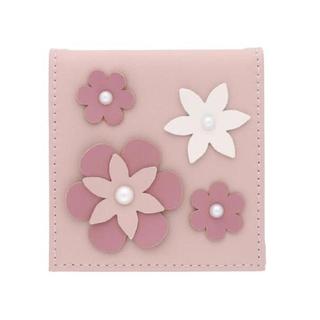 メゾンドフルール(Maison de FLEUR)のメゾンドフルール  フラワーモチーフミラー 新品 鏡 ピンク (日用品/生活雑貨)