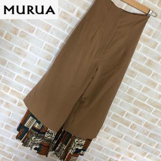 【MuRuA】ムルーア パンツ スカンツ 裾フレア Sサイズ