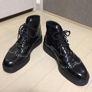 Edition - ■Edition エディション■エナメル スタッズ ブーツ 約26cm 美品