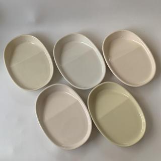 フェリシモ(FELISSIMO)のフェリシモ★醤油&タレがつきすぎない斜め底 取り皿5枚セット(食器)