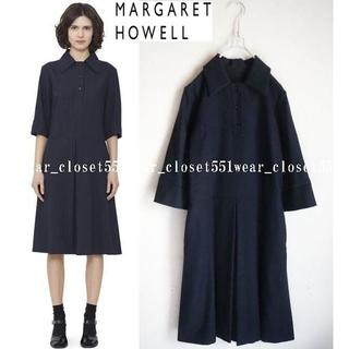 マーガレットハウエル(MARGARET HOWELL)のマーガレットハウエル×FOX BROTHERS☆上質ウールフランネルワンピース1(ひざ丈ワンピース)