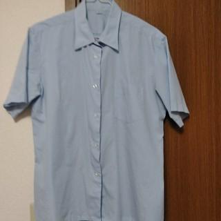 スクールシャツ ブルー(シャツ/ブラウス(半袖/袖なし))