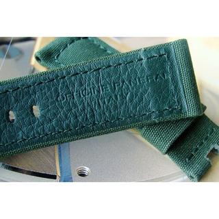 パネライ(PANERAI)のPANERAI パネライ 純正 24mm Dバックル用 バンド 緑(レザーベルト)
