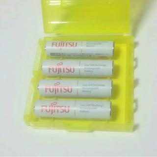 フジツウ(富士通)の富士通 FDK 単4形 充電池 4本 HR-4UTC 日本製(その他)