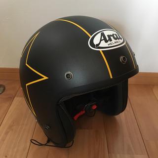 アライテント(ARAI TENT)のArai ジェットヘルメットとYELLOW CORNグローブ(ヘルメット/シールド)