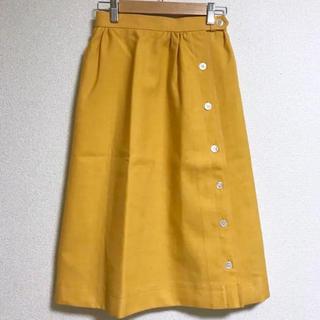 イエーガー(JAEGER)の80年代 イエガー JAEGER 黄色 スカート(ひざ丈スカート)