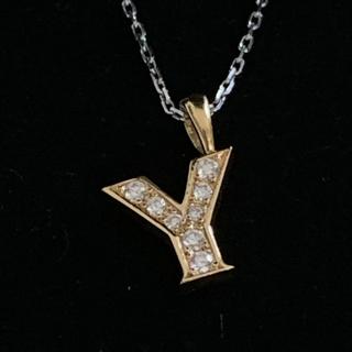 アイファニー(EYEFUNNY)のアイファニー  ペンダント ゴールド 18k ダイヤ チェーンとトップセットでY(ネックレス)
