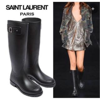 サンローラン(Saint Laurent)のほぼ新品】Saint Laurent (サンローラン) レインブーツ ブラック(レインブーツ/長靴)