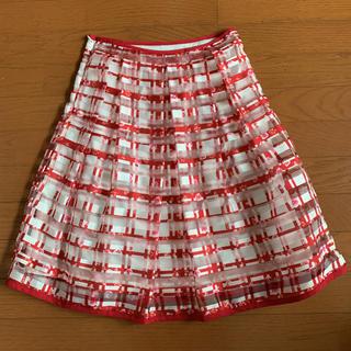 オペーク(OPAQUE)のOPAQUE シースルー スカート(ひざ丈スカート)
